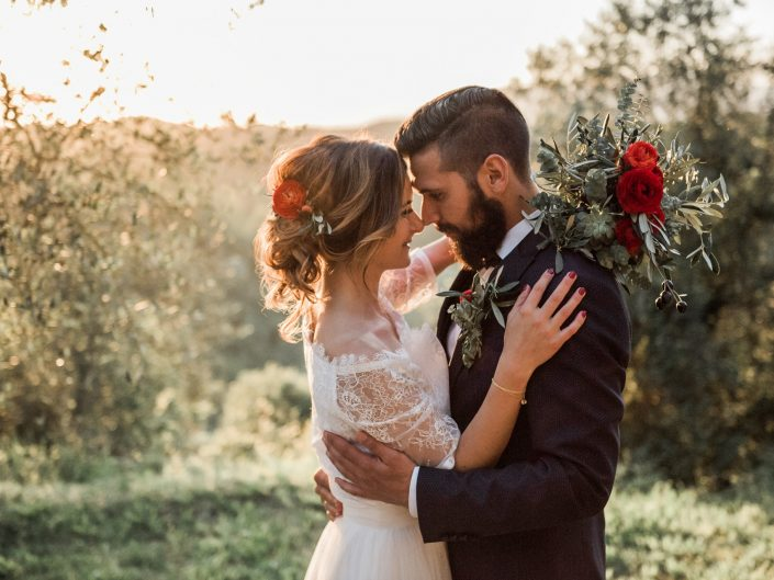 Rustic Countryside Wedding in Tuscany