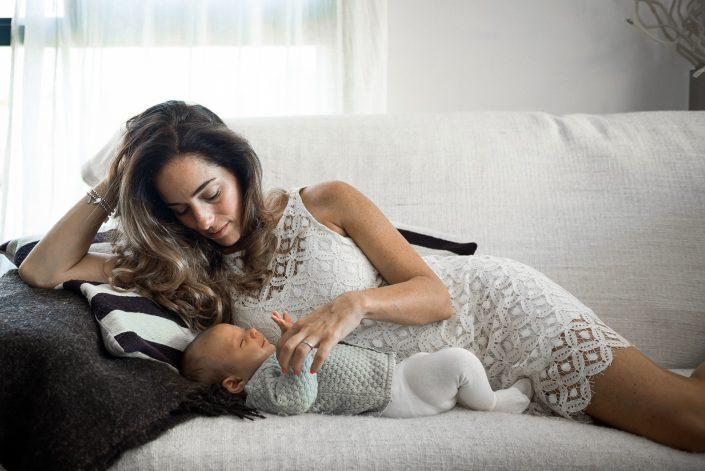 Jacki with her baby
