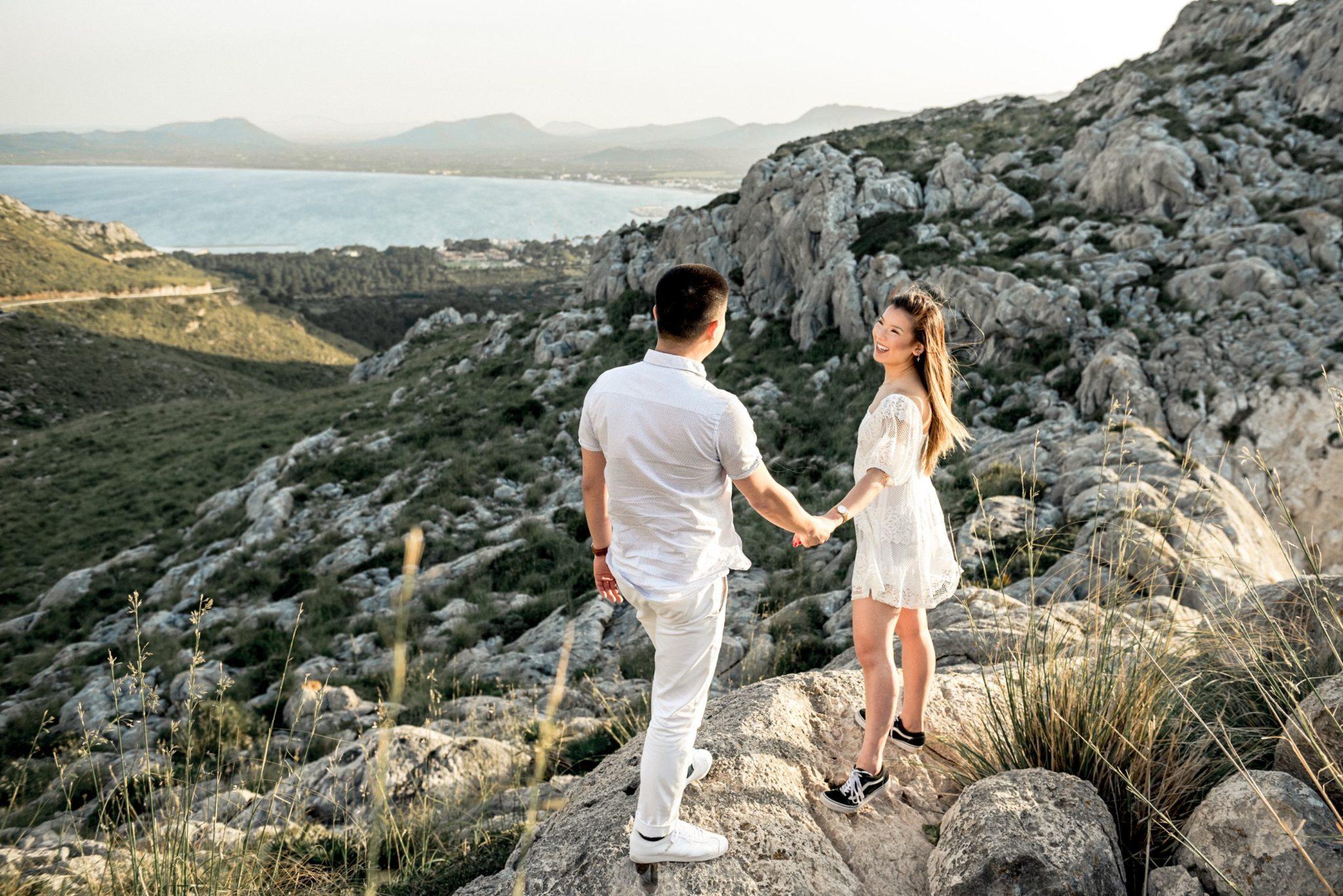 Mallorca surprise engagement shoot