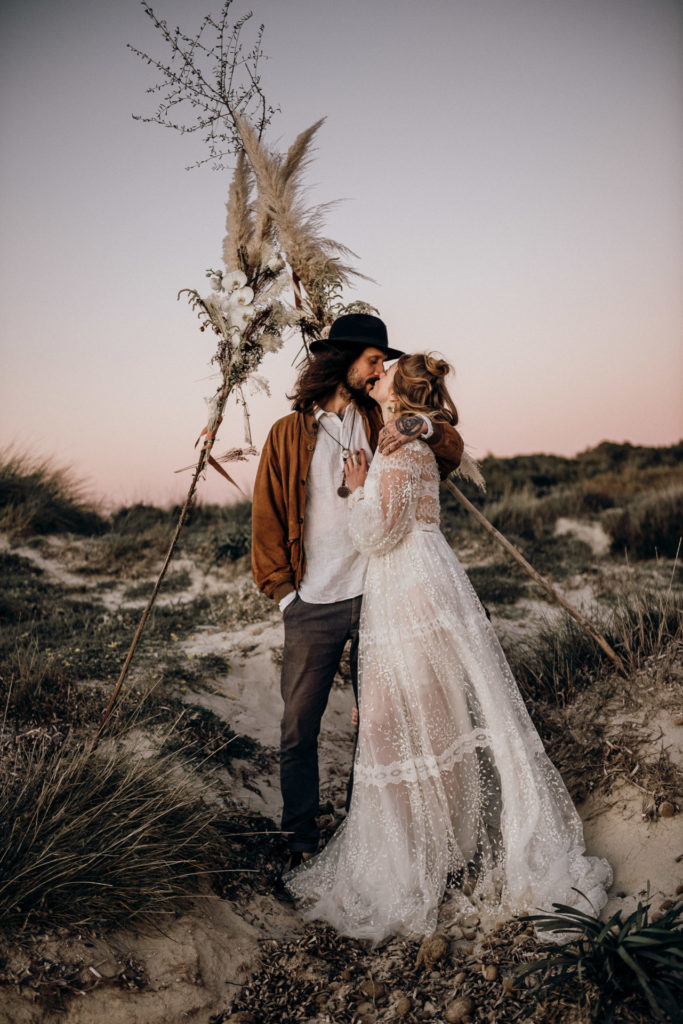 Boho inspiration elopement